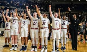 Army-Navy Basketball Saturday: Women Sing Second; Men Sing First – Here's Why . . .