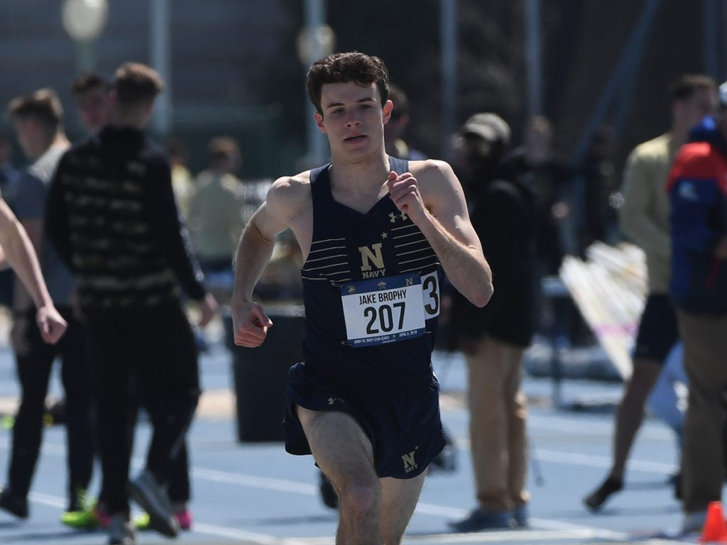 Jake Brophy was the winner at the Patriot League Indoor Championships last year.