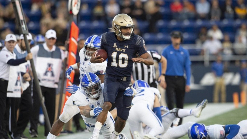 Malcolm Perry scored the winning touchdown in the Air Force game, the second of three inflection points in Navy's season.