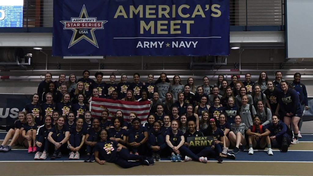 The Navy Women's Track Team