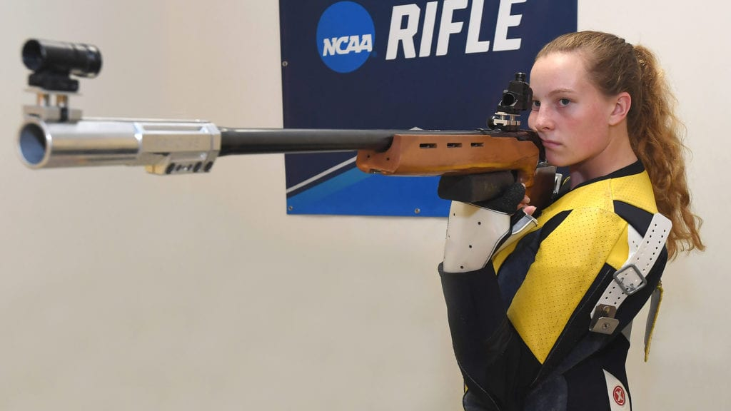 Kestrel Kuhne is the Navy Rifle team captain.
