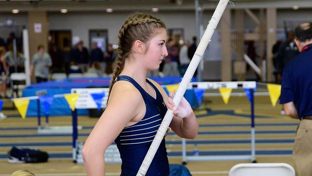 Navy Women's Track pole vaulter Charlene Mork.