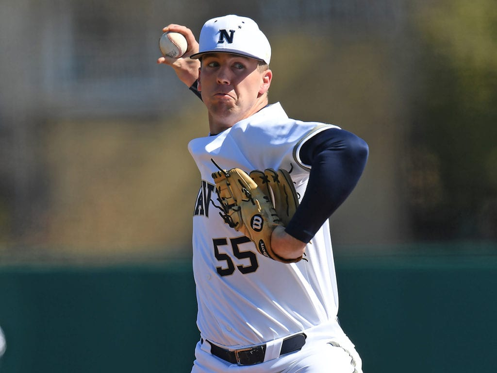 Navy Baseball pitcher Charlie Connolly