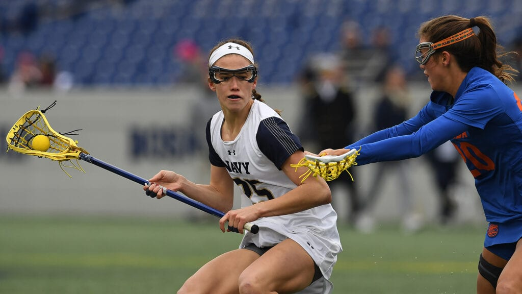 Navy Women's Lacrosse Midfielder Kayla Harris was another offensive threat for the Mids.