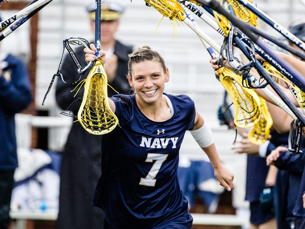 Kelly Larking played a big role in the Navy Women's Lacrosse team's Final Four run.