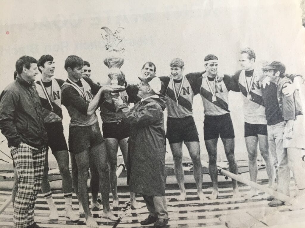 Navy Rowing win the 1980 IRA Championship