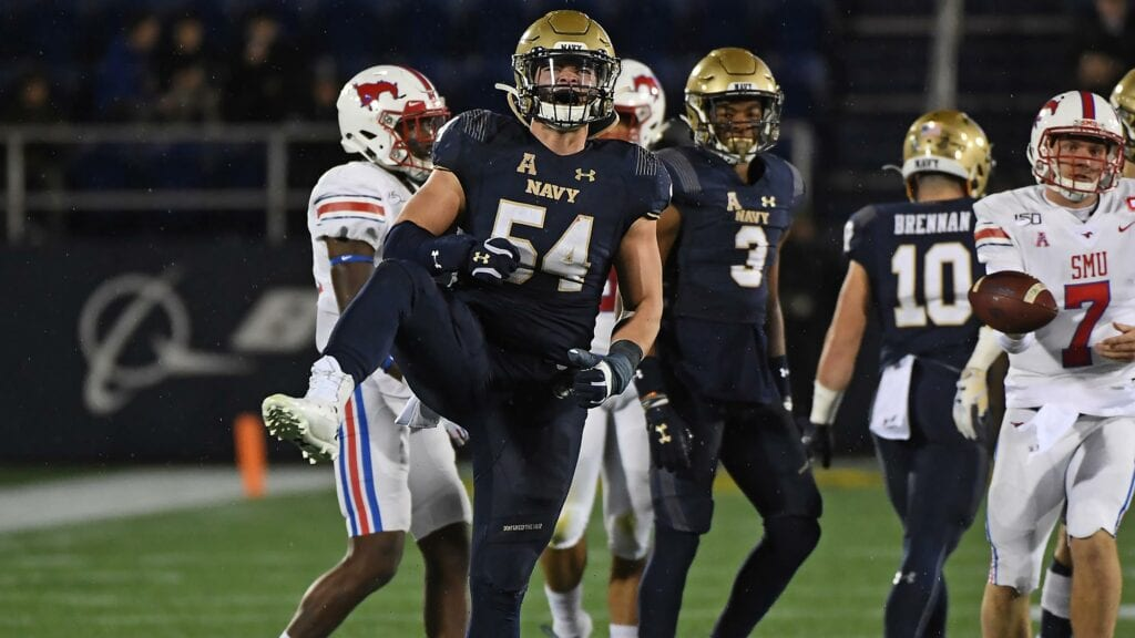 Diego Fagot is the heart and soul of the Navy defense that put a lot of pressure on opposing offenses.