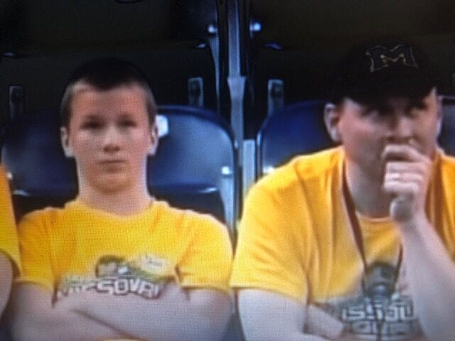 Dejected Missouri fans after another Navy score.