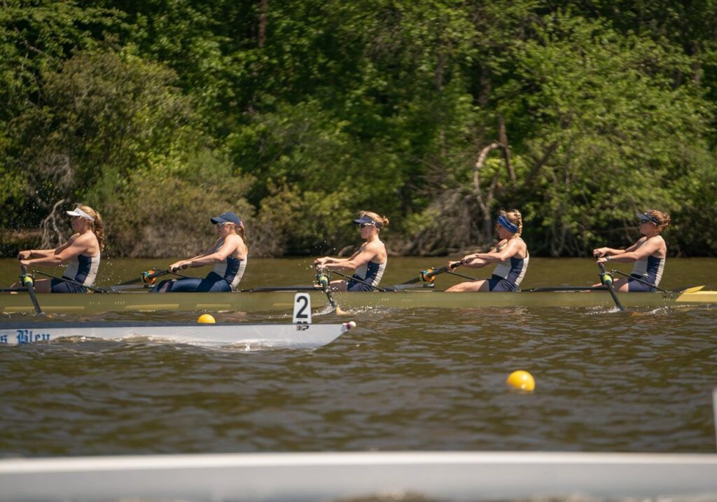 The Navy varsity eight crew at the Patriot League Championships.