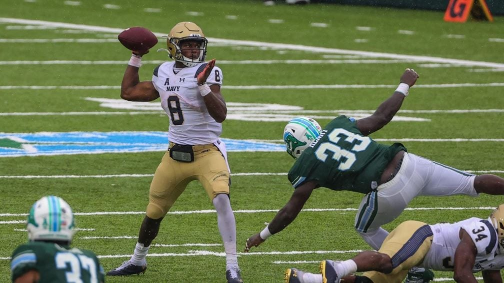 """Navy QB Dalen Morris showed how the Mids are """"built different"""" in the Tulane game."""