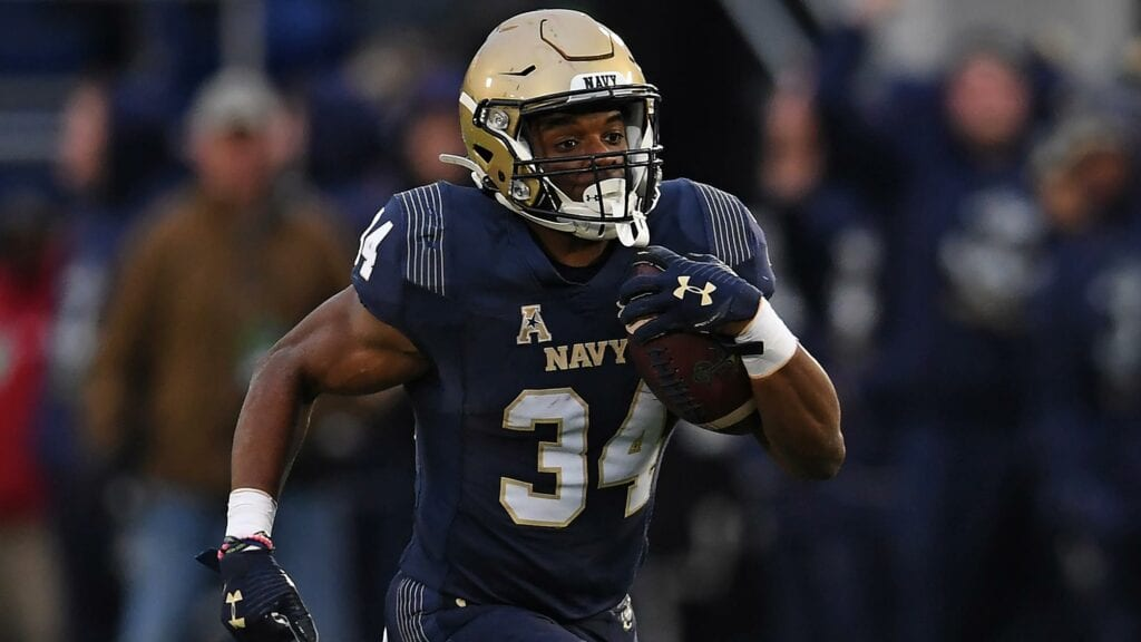 """Navy Fullback Jamale Carothers personifies the Mids' """"Built Different"""" persona."""