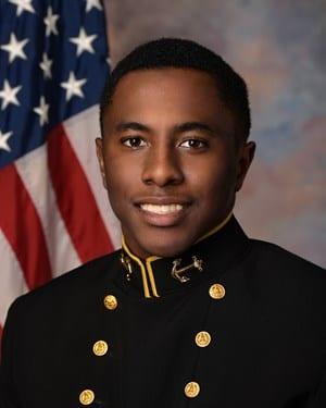 Navy Defensive Back Grant Hooper