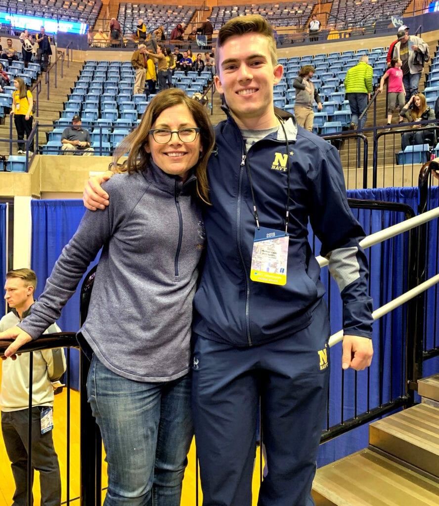 Navy Rifle athlete Mike Zanti with his mom Kathleen