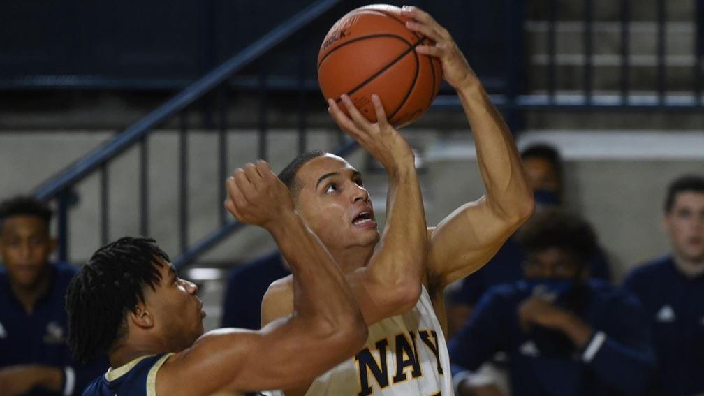 Navy basketball captain Cam Davis
