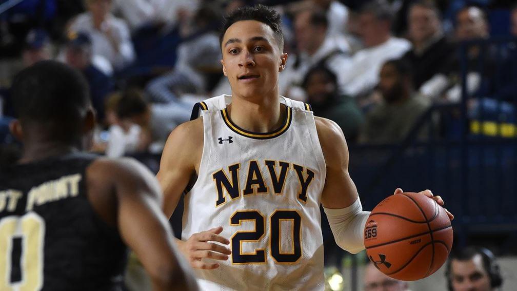Navy basketball guard Greg Summers