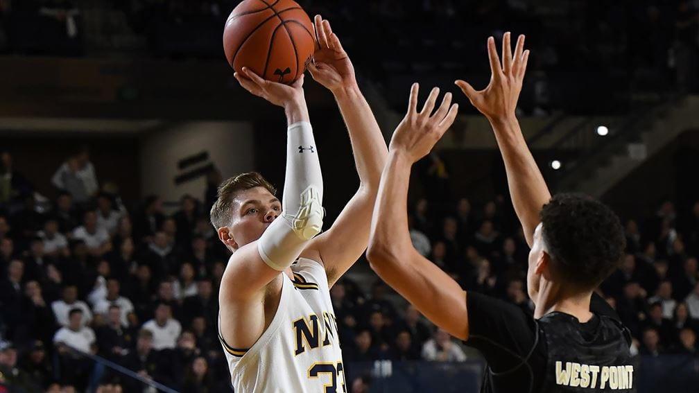 Navy basketball forward Luke Loehr
