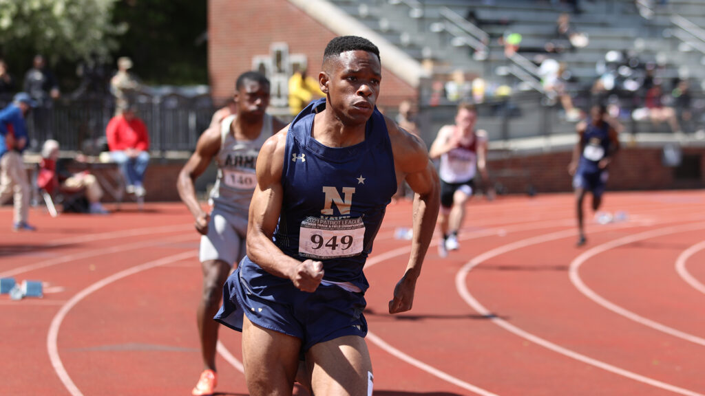 Navy track & Field sprinter Eric Hughey