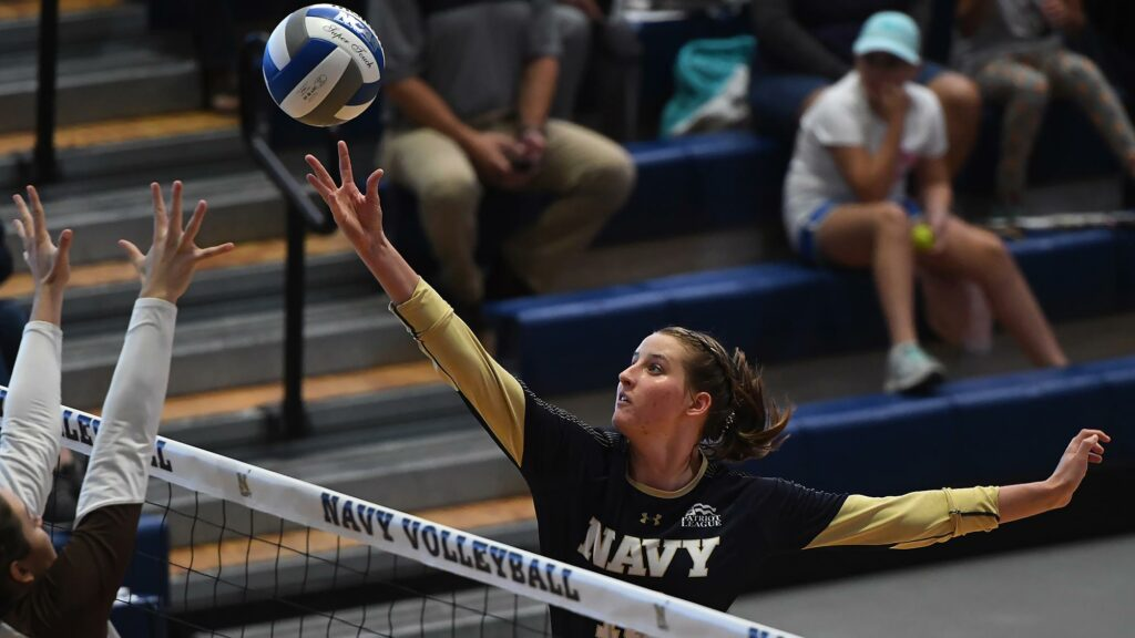 Navy Volleyball Opposite Hitter Avery Stowell